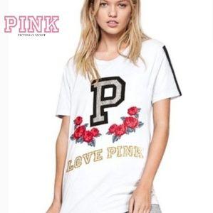 🌹 PINK Victoria's Secret Bling & rose embellished